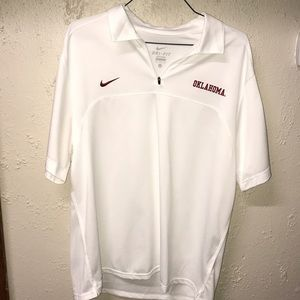 Oklahoma Sooners Dry-Fit Zip Up Shirt